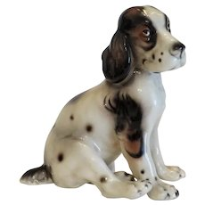 Ceramic dog figure, signed Keramos, ca.1920