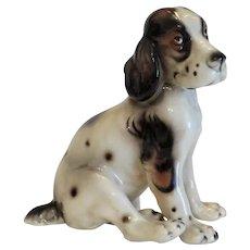 Ceramic dog figure, signed Keramos, ca.1920