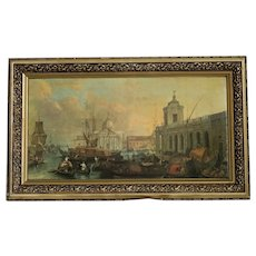Vintage art print on canvas, 1st half 20th century