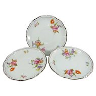 Krautheim Bavaria Saucer FR18 Set of 3