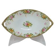 Hand Painted Nippon Floral Dish