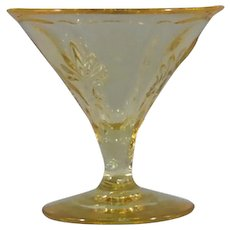 Fostoria Baroque Topaz Champagne-Tall Sherbet Glassware