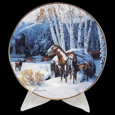 Bradford Exchange Camp of the Sacred Dogs Collector Plate by Julie Kramer Cole 8th in Collection