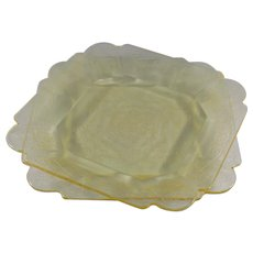 Indiana Glass Lorain Yellow Salad Plate, Set of 2