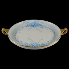 RS Tillowitz Blue Floral Round Handled Dish