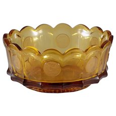 Fostoria Coin Glass Round Bowl in Amber
