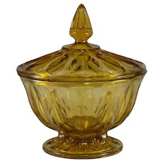 Anchor Hocking Fairfield Candy Dish in Amber