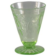 Anchor Hocking Cameo Juice Glass in Green