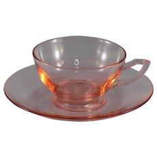 Heisey Yeoman Flamingo Cup and Saucer