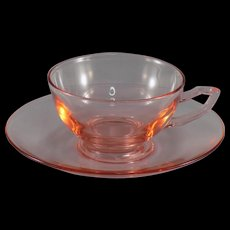 Heisey Yeoman Flamingo Cup and Saucer
