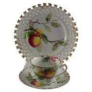 Lefton 3 Piece Luncheon Set with Peach Design WK711