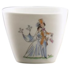 Rosenthal Bride and Groom Toothpick Holder Pattern 1525