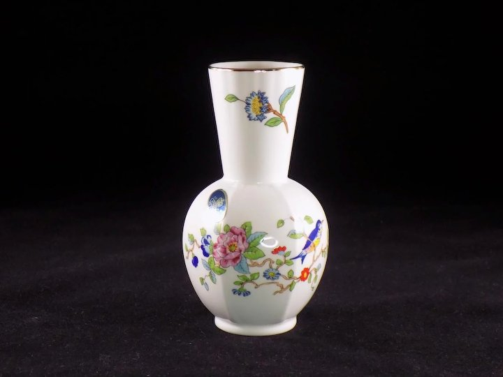 Aynsley Pembroke English Bone China Bud Vase Two Lab Collectibles