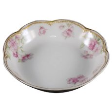 Haviland Fruit-Dessert Bowl Schleiger 39-3 Pink Flowers