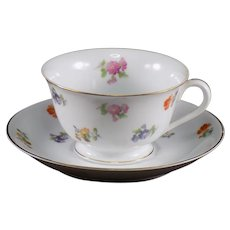 Noritake Footed Cup and Saucer Made in Occupied Japan