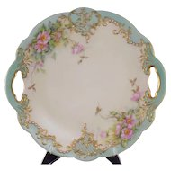 Bawo Dotter Elite Works Limoges Decorated Handled Plate