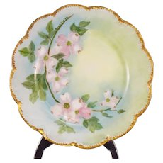 Theodore Haviland Limoges Floral Decorated Plate