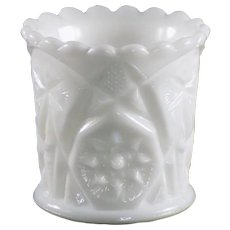 Kemple Yutec Milk Glass Toothpick Holder