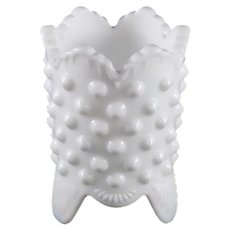Fenton Hobnail White Milk Glass Toothpick Holder