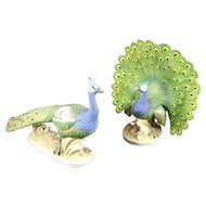 Lefton Pair of Peacocks KW2335 and KW2336 Japan
