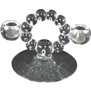 Imperial Candlewick Clear Double Light Candlestick