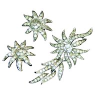 Sarah Coventry 1965 Evening Accent Brooch/Pendant and Earrings Set