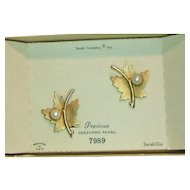 Sarah Coventry 1964 Precious Earrings in Original Box