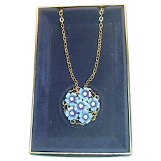 Avon 1972 Love Blossoms Brooch Pendant Combination with Chain
