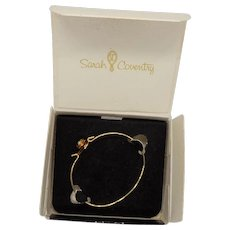 Sarah Coventry 1976 Young Adult Rosebud Bracelet in Original Box