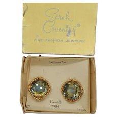 Sarah Coventry 1964 Versaille Clip Earrings in Original Box