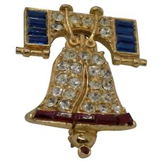 Unsigned American Liberty Bell Pin