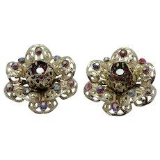 Sarah Coventry 1961 Fashion Flower Daring Clip Earrings