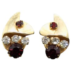 Unsigned Vintage Clip Earrings