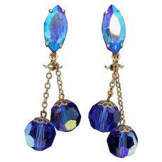 Lewis Segal California Dangle Clip Earrings