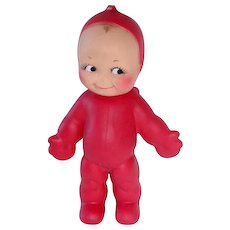 "Vintage Red 8"" Ragsy KEWPIE Squeak Doll By Cameo"