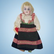 "Tiny Bisque Head 5.5"" Gebruder Kuhnlenz Doll in Original Costume"