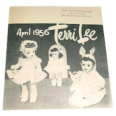 Original 1956 Terri Lee Doll Booklet