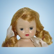 Nancy Ann Straight Leg Walker Muffie Doll ~ Blonde Braids