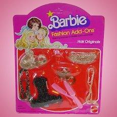 Mod Best Buy 1978 #2457 Barbie Doll Fashion Add Ons ~ Hair Originals NRFB