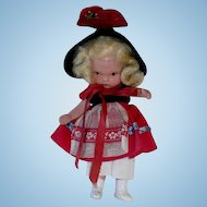 Nancy Ann Storybook Doll ~  #120 To Market, To Market  W/ Molded Socks