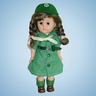 "Vintage 8"" Vogue Ginny Dressed in GIRL SCOUT Uniform"