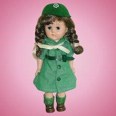 "Vintage 8"" Vogue Ginny Dressed in GIRL SCOUT Uniform"