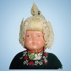 "Vintage Celluloid Dutch Girl Doll 8"""