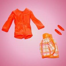 Mod 1970 Barbie Fashion ~ #1451 Tangerine Scene ~ NM/C