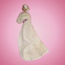 "Genuine Ivory MINK Cloak by DIMITHA For 16"" Fashion Dolls"