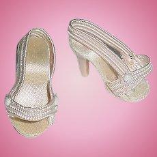 Vintage CISSETTE 1950s Original Pink Heels ~ Madame Alexander