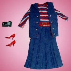 Vintage 1965 Barbie Fashion ~ #1631 ABOARD SHIP