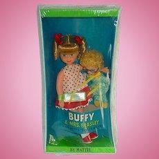 "Vintage 1967 Mattel ~ 6"" Buffy and Mrs. Beasley Dolls ~ NRFB"