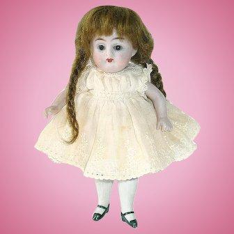 """Antique KESTNER #160 All Bisque Doll 5.5"""""""