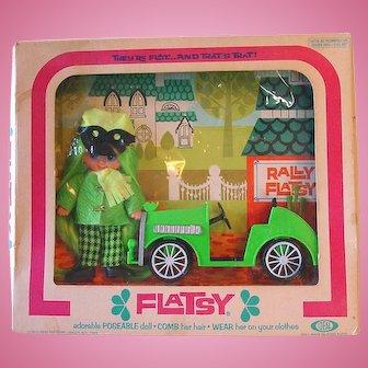 "Vintage 4 1/2"" Ideal ~ Rally FLATSY Doll ~ NRFB"